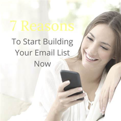 7 Reasons To Start Your Shopping Now by Email Marketing 7 Reasons To Start Building An Email List Now