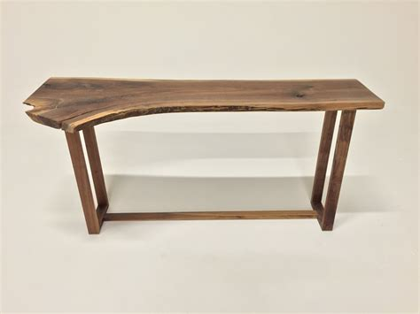 Live Edge Console Table Sold Beautiful Live Edge Black Walnut Console Table