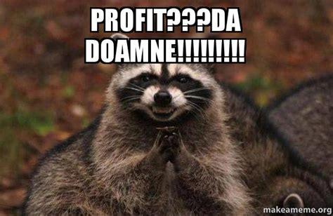 Evil Raccoon Meme - profit da doamne evil plotting raccoon make