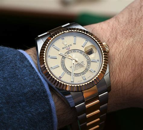 Rolex Dweller Gold rolex sky dweller watches in two tone steel gold
