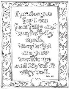 Pages for kids by mr adron printable psalm 139 14 coloring page