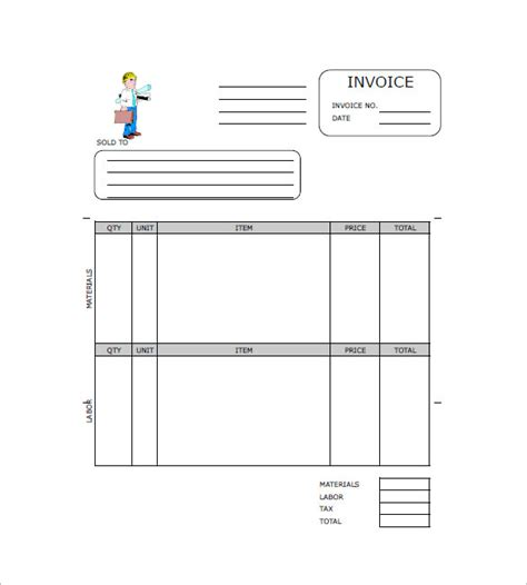 Contractor Invoice Template 8 Free Sle Exle Format Download Free Premium Templates 1099 Contractor Invoice Template