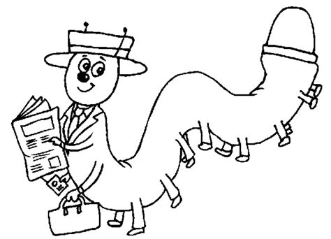 coloring pages of animals reading animals coloring pages mr centipede reading the newspaper