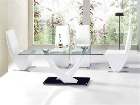 Merveilleux Tables De Salle A Manger En Verre #1: Table-de-salle-a-manger-niko-blanc-verre-1.jpg