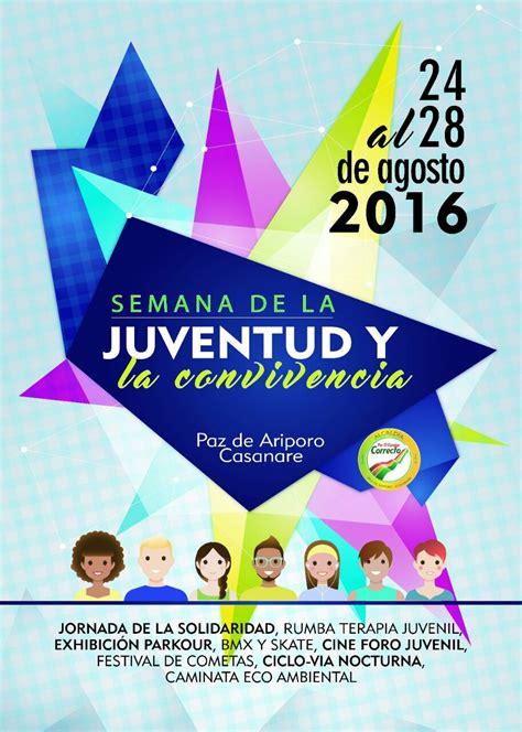 semana de la juventudes 21 al 24 de agosto en z calo audio paz de ariporo celebra semana de la juventud y la