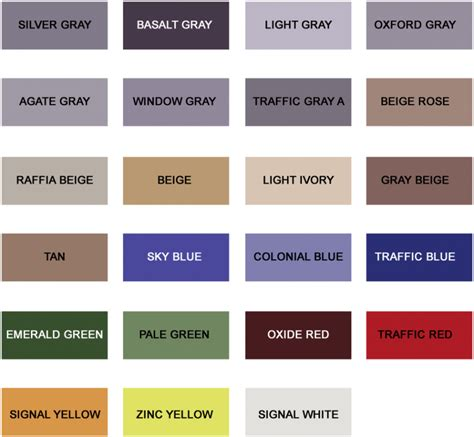 color selection color selection chart epoxy floors and more