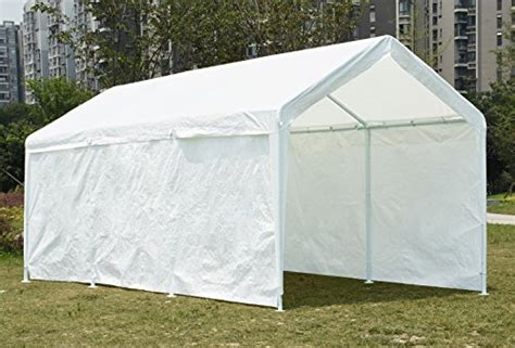 quictent    heavy duty carport gazebo canopy party tent garage car shelter white