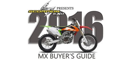 Dirt Bike Giveaway 2016 - 2016 mx bike buyer s guide dirt bike magazine