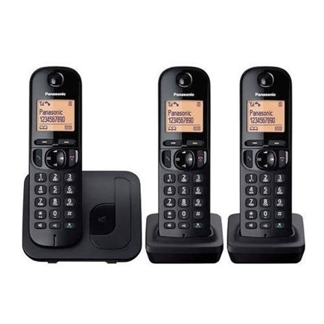 new panasonic kx tgc213 cordless dect trio home phone with