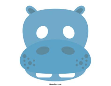 printable hippo mask image gallery hippopotamus mask