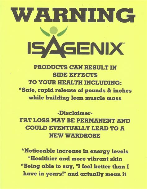 Side Effects From A Person Trying To Detox From Cocaine by Warning Isagenix May Some Side Effects If