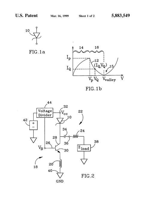 resonant tunneling diode patent us5883549 bipolar junction transistor bjt resonant tunneling diode rtd oscillator