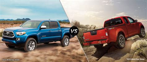 Frontier Toyota Service 2016 Toyota Tacoma Vs 2016 Nissan Frontier