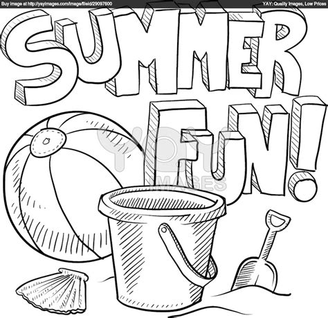 free coloring pages of a summer scenery
