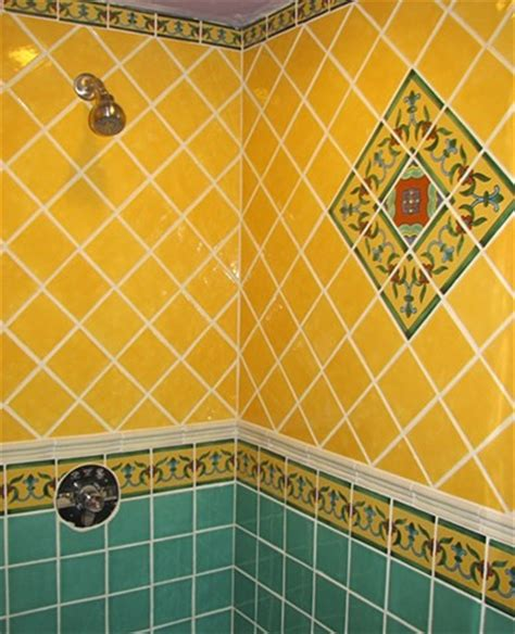 Mexican Shower by Custom Mosaics By Russo
