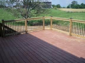 Composite Balusters For Decks Composite Deck With Wood Railing Composite Decks