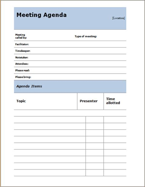 free meeting agenda templates for word meeting word templates microsoft word templates