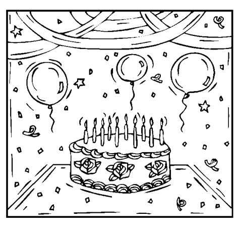free coloring pages birthday party happy birthday coloring pages free printable pictures