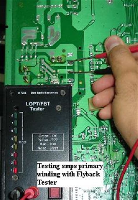 flyback diode test dell monitor repair