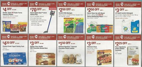 costco printable grocery coupons costco coupon book july 11 august 4 2013