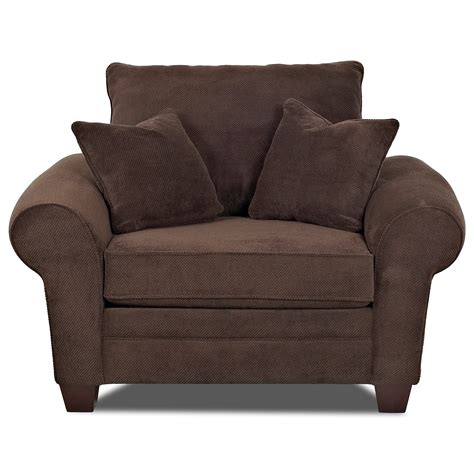 Klaussner Kazler K57000 C Oversized Plush Chair With Oversized Sofa Pillows
