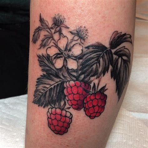 raspberry tattoo raspberries by esther garcia tattoomagz