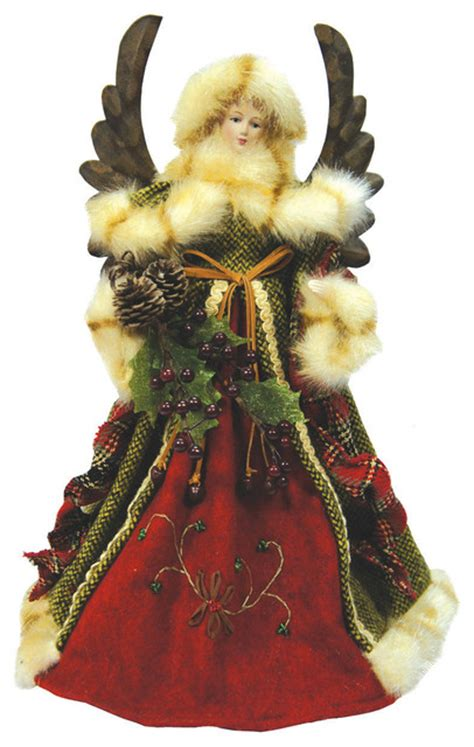 green forest angel tree topper traditional christmas ornaments santas workshop