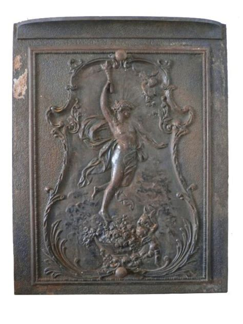 remarkable antique neoclassical figural cast iron summer