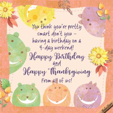 Thanksgiving Birthday Cards Free