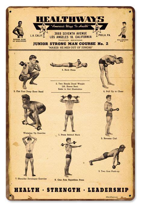 Healthways Gym Vintage Metal Sign