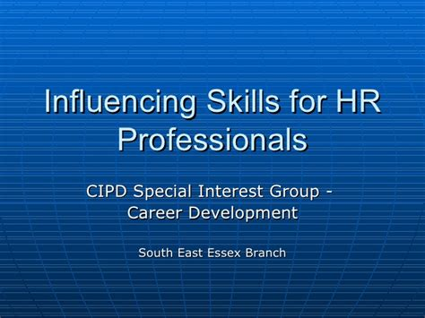 influencing skillsfor hr professionals 2