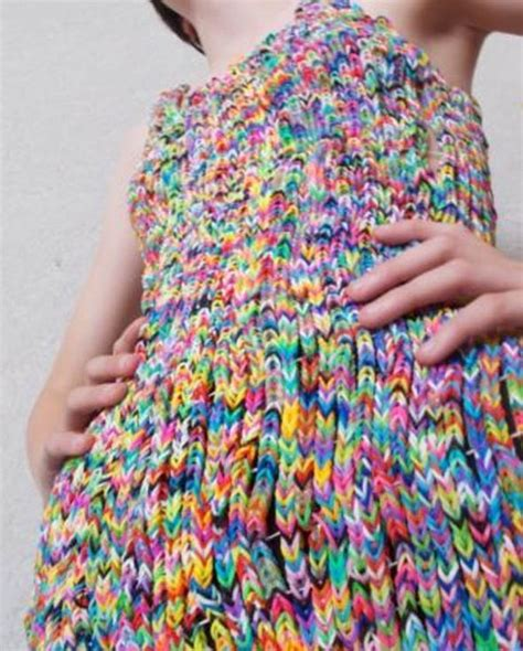 loom band dress video 16 first child to make a adult dress made of thousands of loom bands attracts astonishing