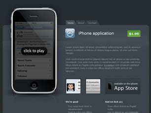 iphone css layout iphone free website template free css templates free css