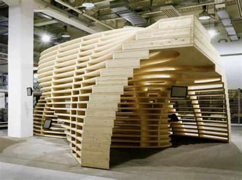 pavillon architektur holz lignum pavilion by saarinen architects contemporist