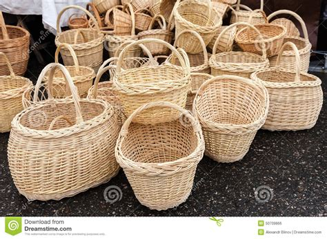 Handmade Wicker Baskets - handmade wicker baskets stock photo image of revival