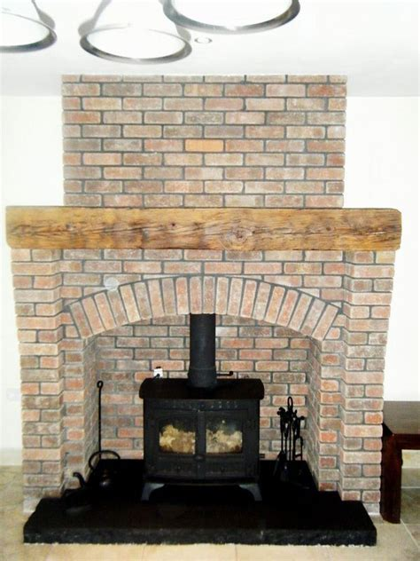 Hearth Bricks For Fireplaces by Brick Around Free Standing Cast Iron Fireplaces Brick
