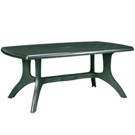 Green Garden Table Resin Patio Furniture Outdoor Dining Green Plastic Patio Table
