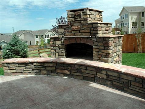 how to build an outdoor stacked fireplace how tos