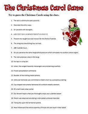 25 days of christmas office activities 25 unique carol quiz ideas on carol ideas and