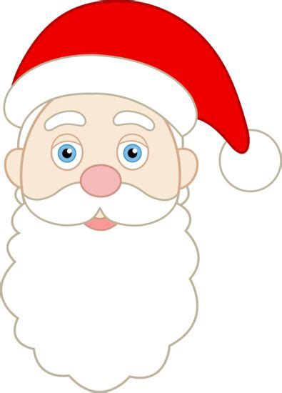 printable santa face santa face clip art and faces on pinterest