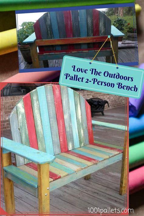 chalk paint pallet chalk paint two person pallet bench 1001 pallets