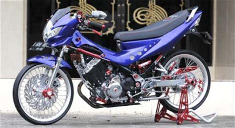 Alarm Motor Buat Satria Fu satria fu modifikasi dua warna yang berbeda oto trendz