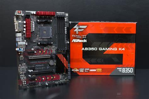 Asrock Ab350 Gaming K4 Ryzen Am4 mainboard asrock fatal1ty ab350 gaming k4 เมนบอร ดเพ อ