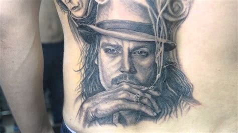 johnny tattoo pictures johnny depp tattoo by italo esquivel youtube