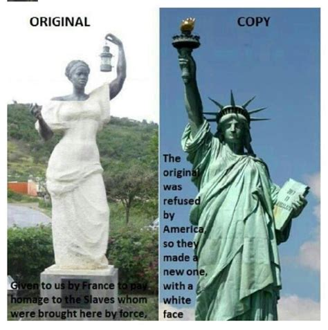 who is the black woman on the liberty insurance commercial the original statue of liberty presented to the u s was a