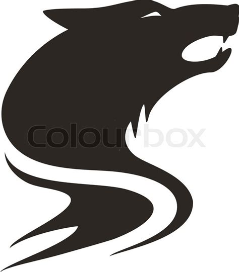 wolf tribal stock vector colourbox
