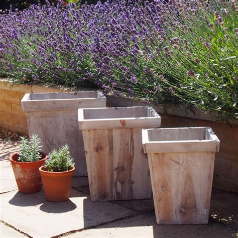 Rustic Flower Pots Planters by Rustic Grey Wash Wood Planters Rustic Plant Pots