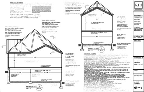 cross section design cross sections drawings residential design inc