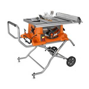 ridgid 10 inch portable table saw with stand the home