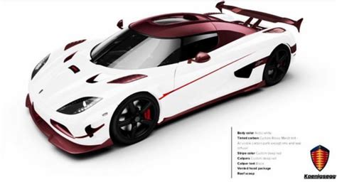 koenigsegg agera and black someone ordered a koenigsegg agera rs in white and pink carbon